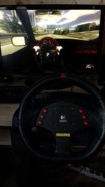 джойстики pc в Кыргызстан: Продаю игровой руль с педалями (PC) г.Бишкек