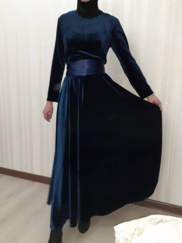 Очень красивое бархатное платье 44-46