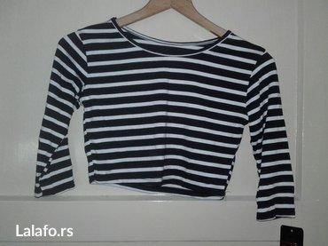 Crno bela majica iznad pupka. vel. S. novo komplet suknja +500 din - Novi Sad