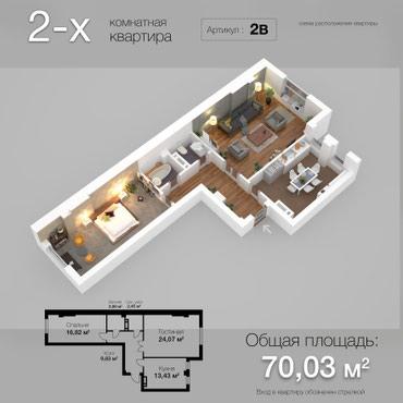 Продается квартира: 2 комнаты в Бишкек