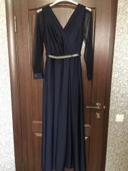вечернее платье темно синего в Кыргызстан: Очень нежное платье, благородно-темно синего цвета(Турция) размер 38