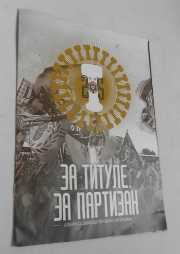Partizan kacket - Srbija: Partizan album 70posto popunjen