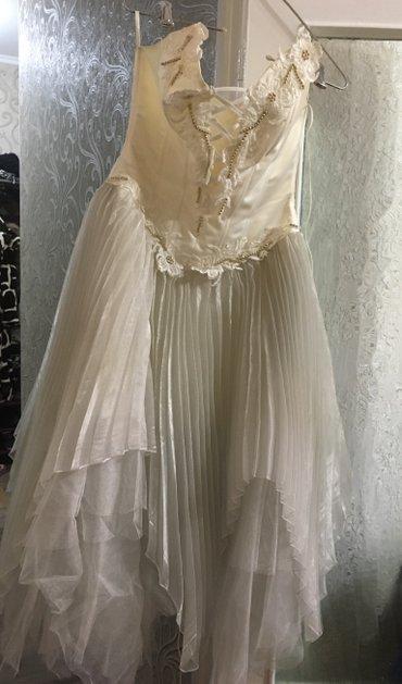 Свадебное платье, длина чуть ниже в Бишкек