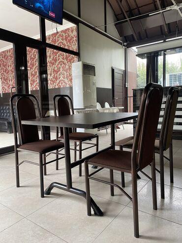 стол стулья для зала in Кыргызстан | КОМПЛЕКТЫ СТОЛОВ И СТУЛЬЕВ: Продаются столы со стульями для ресторанного бизнеса! Имеется 20 компл