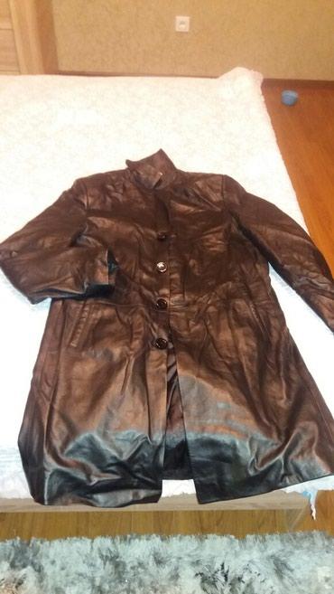 Продаю мужские кожаный черный плащ и в Бишкек