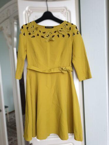 Турецкое платье, цвета фисташки. Состояние отличное, длина до колен