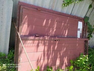 цены-на-шифер в Кыргызстан: Ворота и две калитки, качественный российский металл. Состояние идеаль