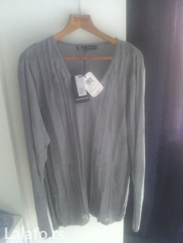Ženska odeća | Rumenka: Brendirana bluza koncana iz Italije sive boj