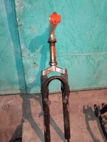 Велоаксессуары - Кыргызстан: Запчасти на велосипед алюминиевая полурама задняя часть. Вилка вместе