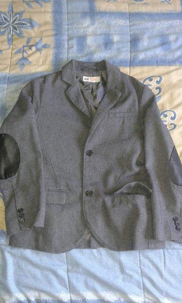 Sako za decake br. 128 ili br. 8 za 7 godine,  sive boje na laktovima  - Smederevo - slika 3