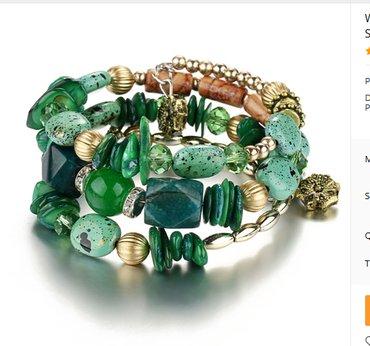 Women vintage resin stone bracelets & bangles pulseras  - Novi Sad