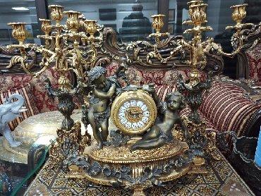 Канделябры с часами бронза, Иран. Вес 19 кг.(3 предмета) . Высота