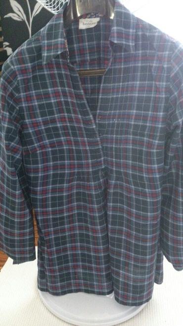 женские рубашки в клетку в Азербайджан: Рубашка-туника 100% cotton