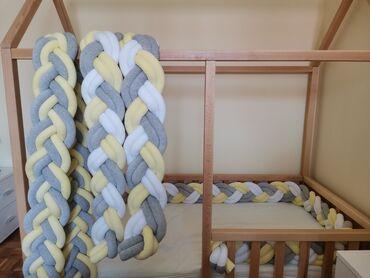 Ogradica - Srbija: Ogradice za krevetac dužine 2.40m i 3m. Ručno urađene od bebi pliša i