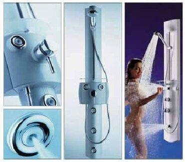 смесители для душа в Азербайджан: Pharo COMFORT PLUS M20 Душевая панель с гидромассажемHansgrohe Pharo®