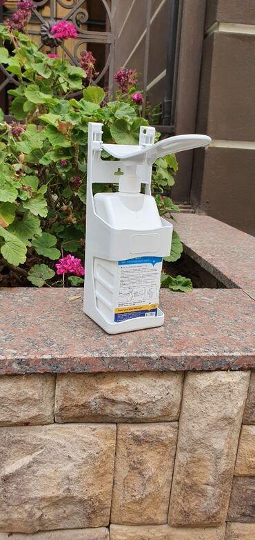 44 elan   ANTISEPTIKLƏR VƏ DEZINFEKSIYAEDICI VASITƏLƏR: Dezinfeksiya üçün dispenser. Əl və qol ilə istifadə etmək olar