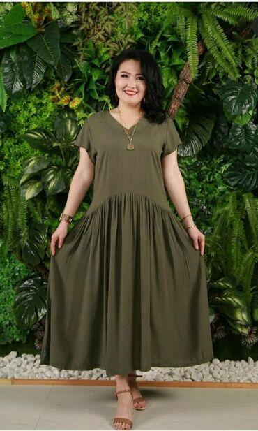 Легкое платье на лето 100% х/б 52-58 размеры