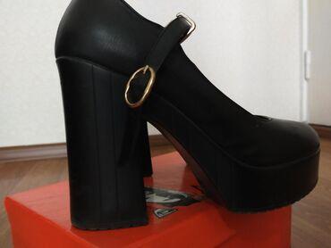 tufli lodochki 39 razmer в Кыргызстан: Очень удобные туфли на толстом высоком каблуке. В хорошем состоянии