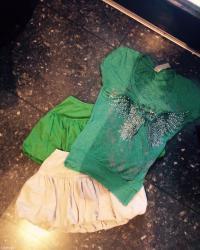Ženska odeća | Palic: Dve suknje + majca(kikiriki)s/m velicine