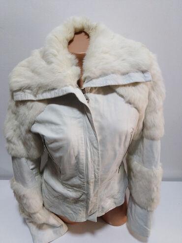 Jakna sa prirodnim krznom - Srbija: Primo Piano ITALY Vera Pelle vrhunska kožna jakna sa prirodnim