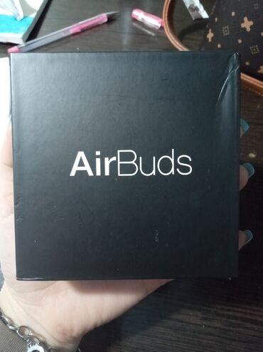 Продаю AirBuds,беспроводные наушники. Торга нет.  Оригинал,цвет :черны