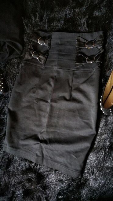 Юбка черная, посадка под грудью Б/у