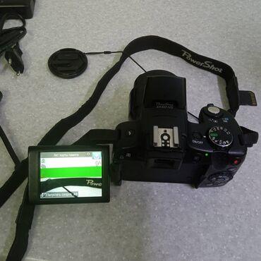 Электроника - Каракол: Фотоаппарат Canon SX50HS.ZOOM 50X IS.в комлекте заряд.устр.сумка.ножка