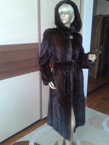 темно коричневое платье в Кыргызстан: Норка Европа, шуба цельная темно коричневая, с капюшоном, отл