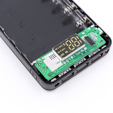 Mobile power bank case diy kit battery charger box 5v 2. 1a 3usb 7x σε Αγία Βαρβάρα