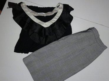Din suknja - Srbija: Suknja i bluzica velicina M u kompleti 450 din