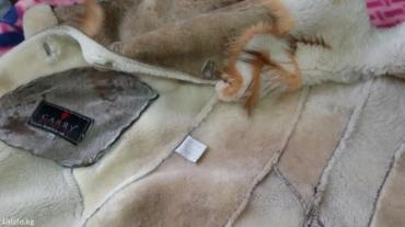 приталенное пальто в Кыргызстан: Дублёнка женская. Натуральная овчина, вставка лиса. Размер М, 46-48