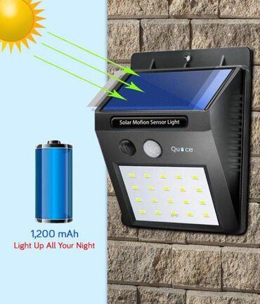 Solarna LED svetiljka sa senzorom pokreta i senzorom dan/noć. Solarno