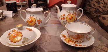 6 neferlik çay servizi 55 manata tecili satılır. 15 predmet