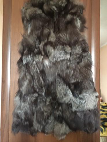 шапку женскую чернобурка в Кыргызстан: Жилетка удлиненная,чернобурка,42-46р