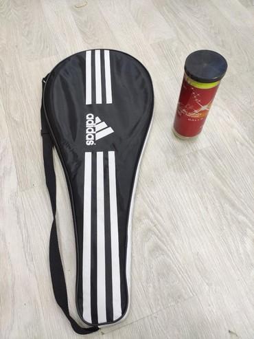 Ракетки в Азербайджан: Tenis Raketkasi (professional) Adidas+3 ədəd tenis topu