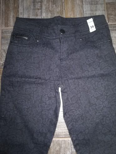 Nove pantalone sa printom vel 34,odgovaraju vel. 36 - Leskovac