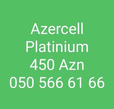 Bakı şəhərində Azercell Platinium Nömre