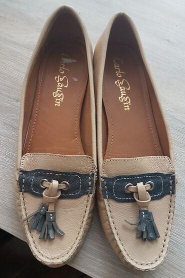 Sivi broj - Srbija: Broj 38,ug 24,Peta sira visine 2cm.Predivne kožne cipele -mokasine