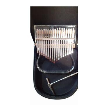 Калимба .17 ключей Стеклянная Калимба  В комплект входят чехол, тюнер