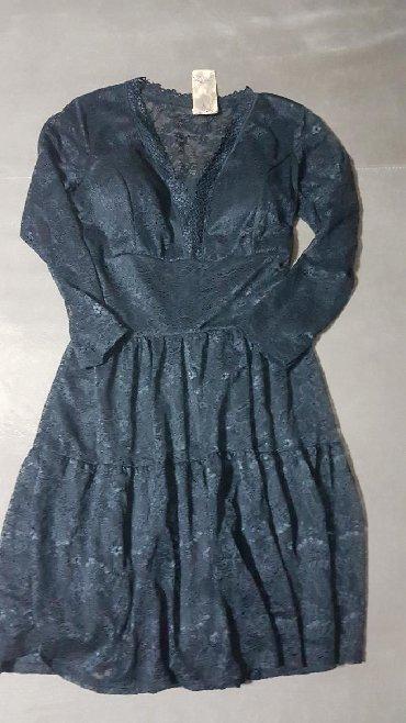 Cipkana-crna - Srbija: Crna cipkana haljina vel.M,Nova sa etiketom