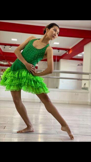 детские платья со шлейфом в Кыргызстан: Продаю танцевальные костюмыЛатино американские кол во 4шт (2 розовые,2