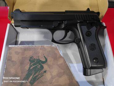 Страйкбольный пистолет беретта на со2Новый! (Стреляет пластиковыми