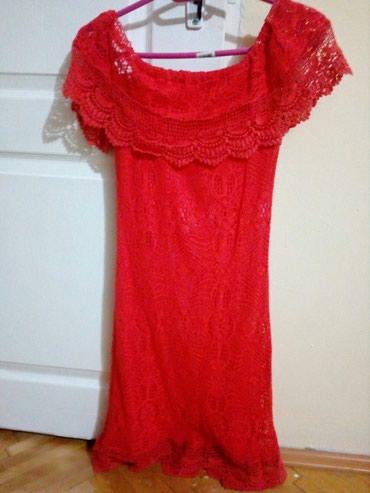 Crvena plisana haljina - Srbija: Nova konačna crvena haljina. Veličina 36