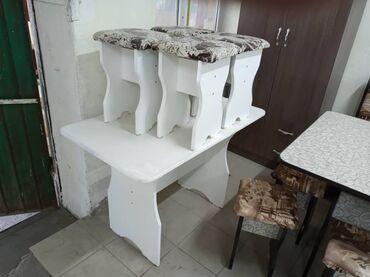 Продаю новый качественный столь и табуретки комплект и даставка 3200