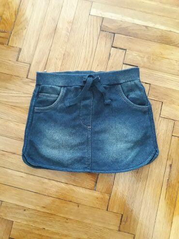 Suknjica jeans - Srbija: Knot so bad suknjica, velicina za 2-3 godine. Imitacija teksasa