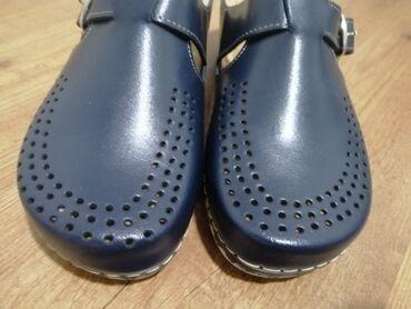 Zenske sandale broj - Srbija: Kožne papuče 40 br.  Teget kožne papuče 40 br. Potpuno nove