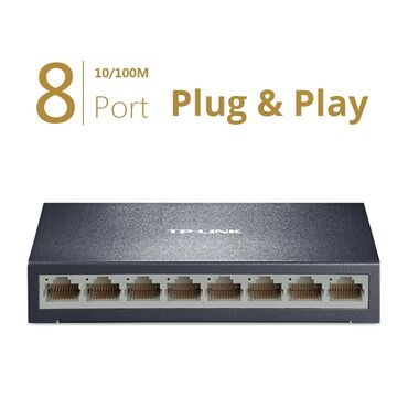 audi 100 28 мт - Azərbaycan: TP-LINK 8 port Switch TP-LINK TL-SF1008D Protokol - IEEE