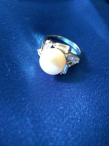 Prsten sa kristalima i biserom. Predivan. - Prijepolje