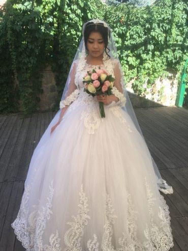 Сдается свадебное платье на прокат . в Кок-Ой