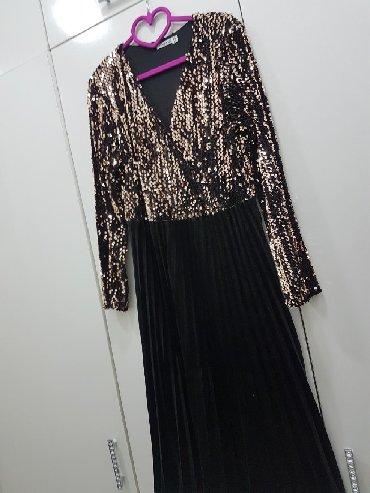 размер 44 48 в Кыргызстан: Платье нарядное бархат +паетки размер 44-48